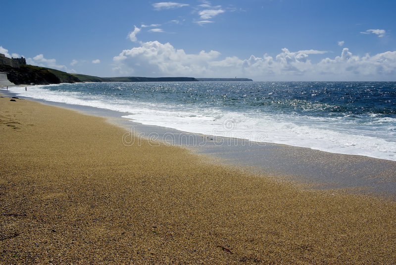 Porthleven sands royalty free stock photos