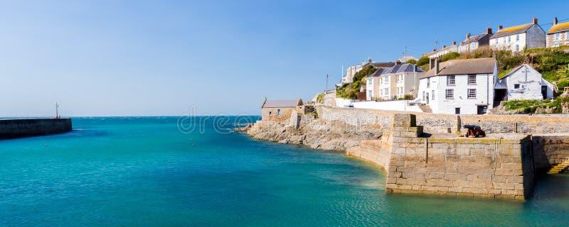 Porthleven schronienie Cornwall Anglia obrazy stock