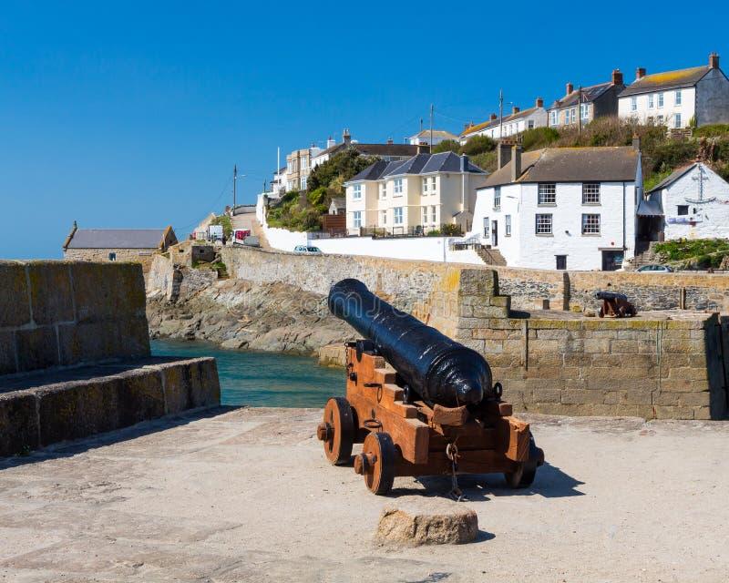 Porthleven schronienie Cornwall Anglia zdjęcie royalty free