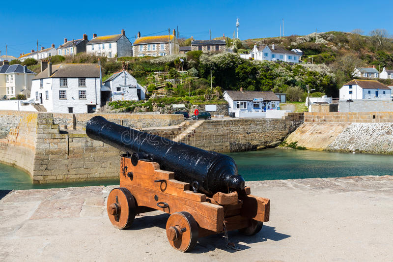 Porthleven schronienie Cornwall Anglia obraz stock