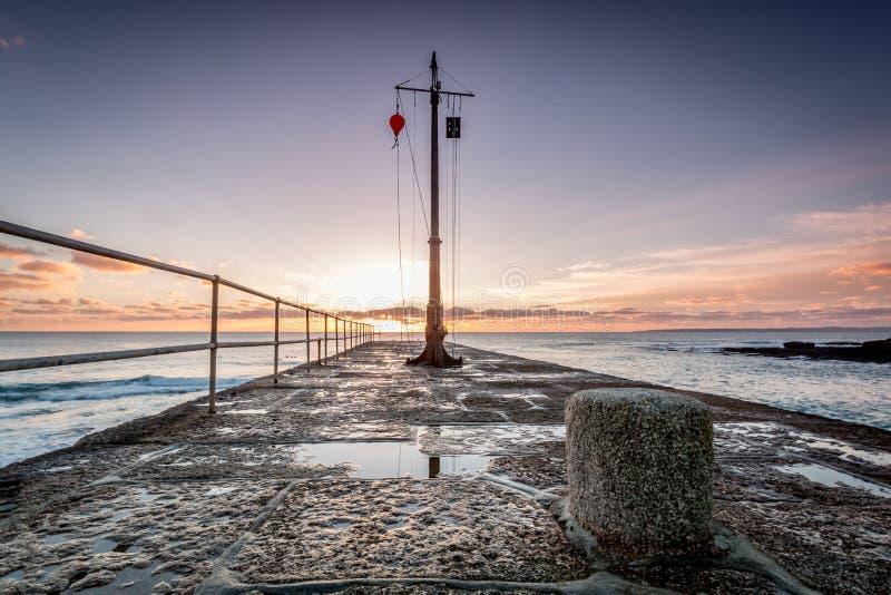 Porthleven schronienie Cornwall England uk zdjęcie royalty free