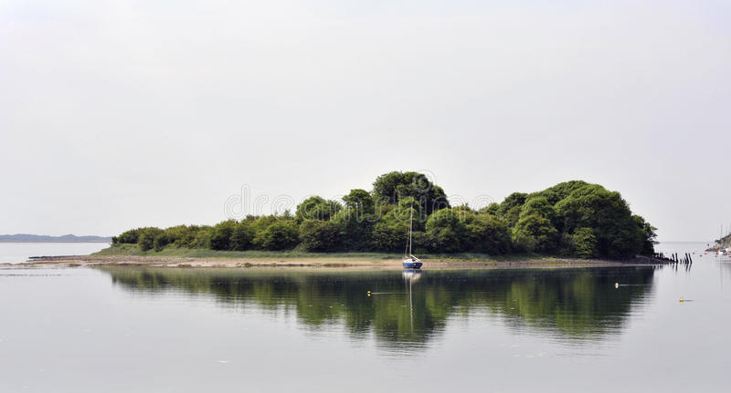 Porthmadog. Lewis`s Island or Ballast Island, also known as Ballast Bank at Porthmadog, Wales. Formed by ballast dumping by ships carrying slate for export royalty free stock image