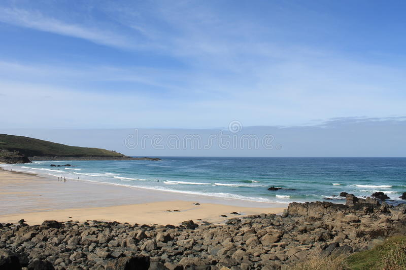 Porthmeor Beach at St Ives in Cornwall, England, UK royalty free stock images