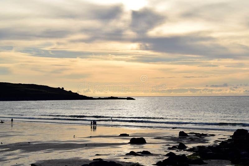 Porthmeor beach, St Ives, Cornwall, UK. Porthmeor beach St Ives, Cornwall, UK on a sunny evening royalty free stock image