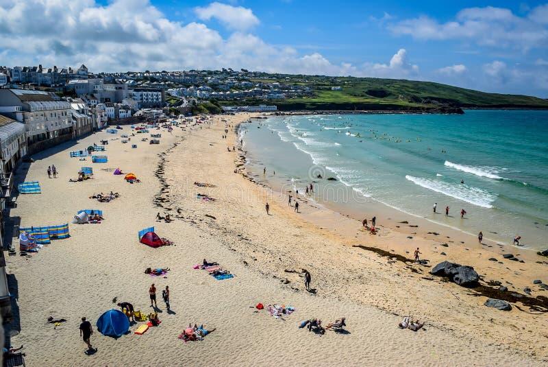 Porthmeor strand, St Ives, Cornwall arkivfoto