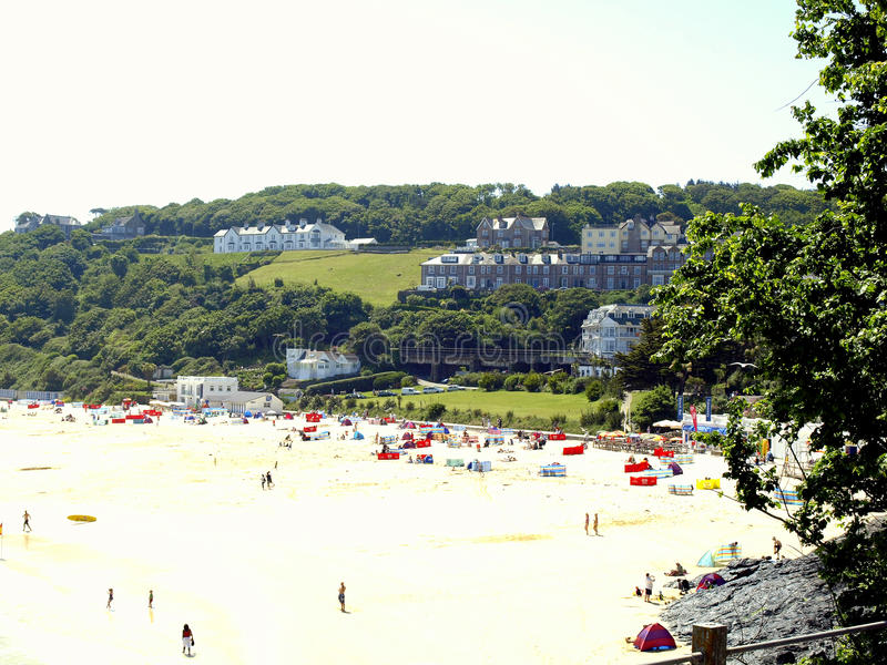 Porthminsterstrand, St.Ives, Cornwall stock foto