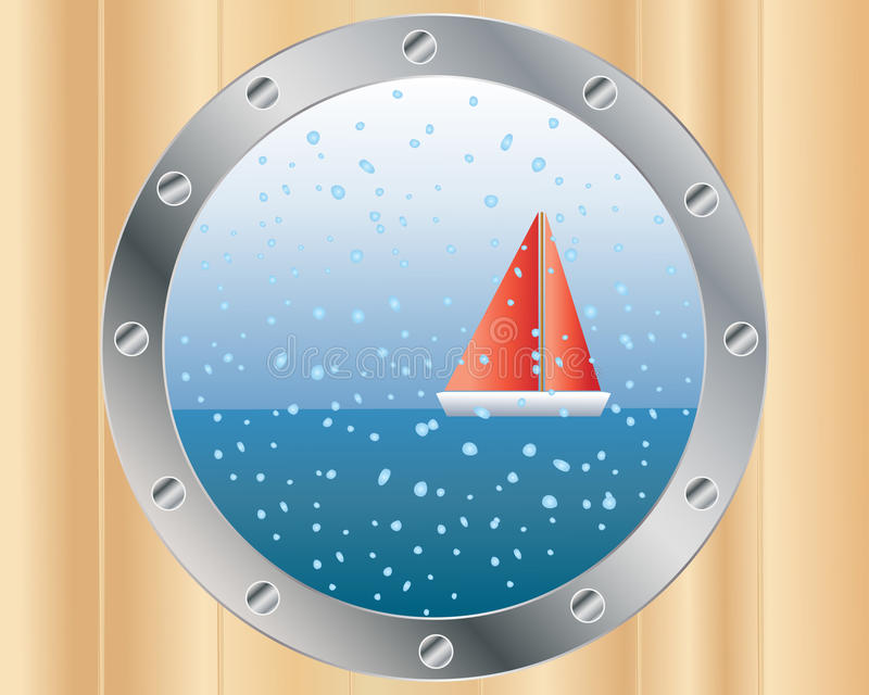 Download Porthole stock vector. Image of glass, wood, boat, maritime - 16178338