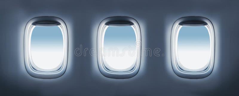 Porthole 3 воздушных судн стоковое изображение