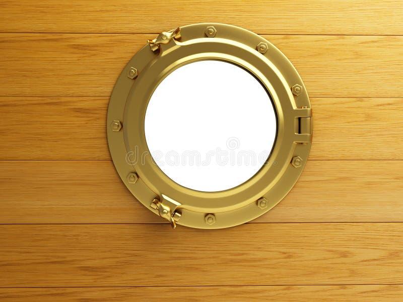 Download Porthole gold wood stock illustration. Illustration of navy - 28804080