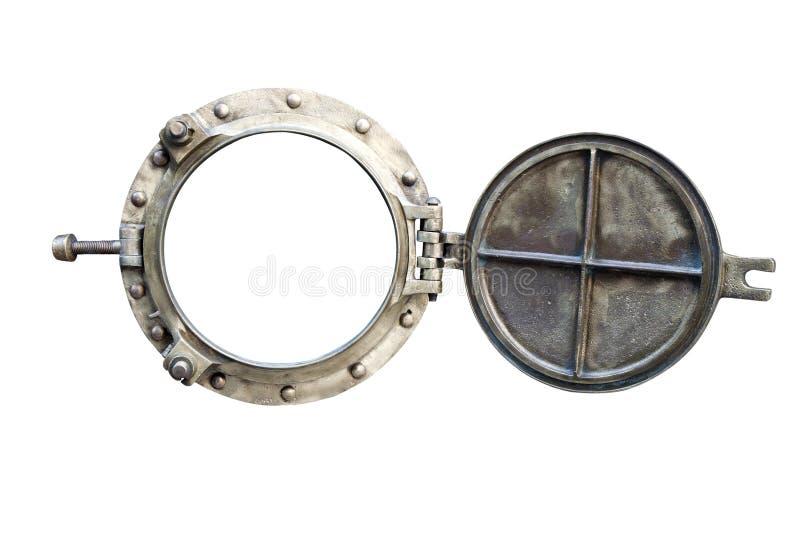 Porthole isolated on white stock image