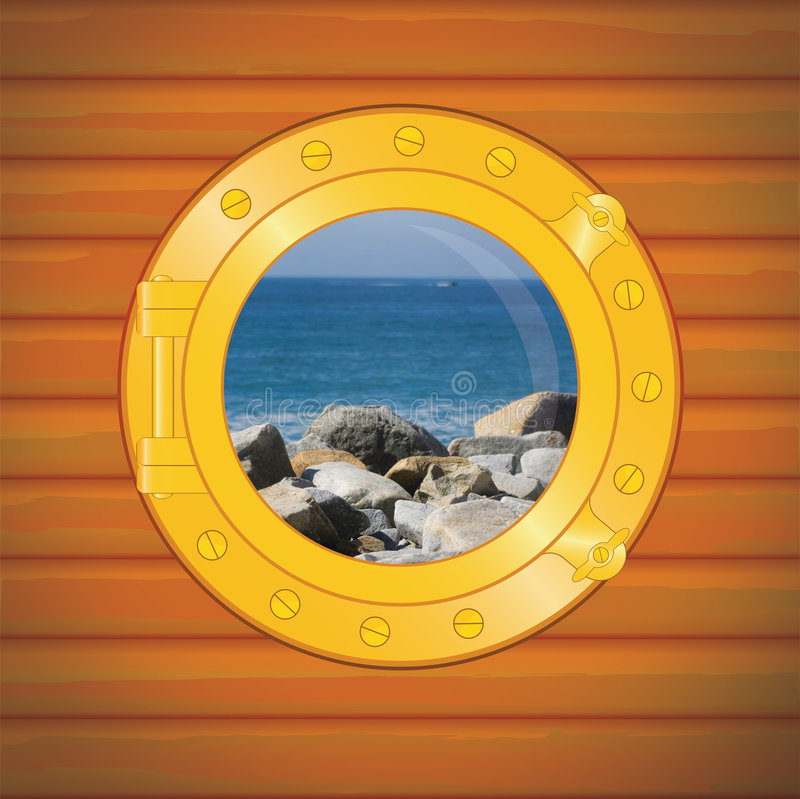 Download Porthole Rocks And Sea Stock Images - Image: 7139114