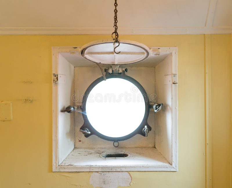 Porthole window on a ship royalty free stock images
