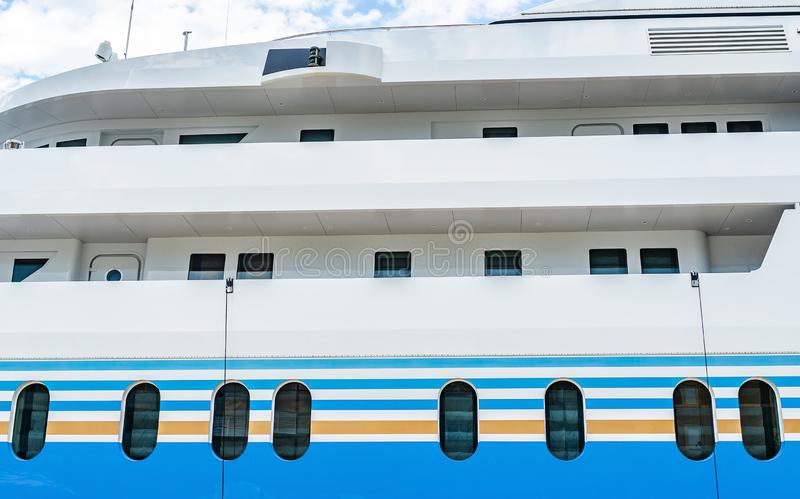 Portholes of the ship of the big ship. stock photo