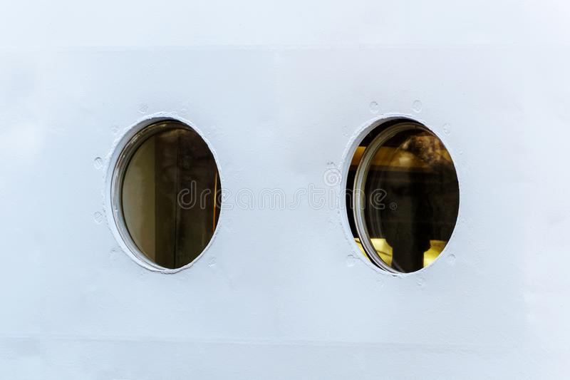 Portholes in the ship royalty free stock photography