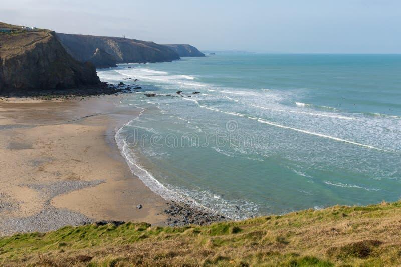 Porthtowan coast Cornwall England UK stock image
