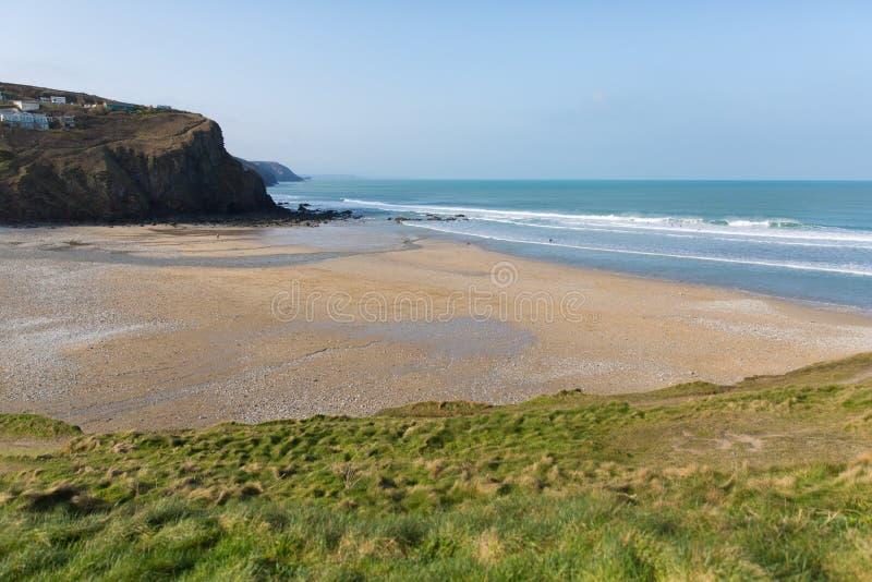 Porthtowan strand nära St Agnes Cornwall England UK royaltyfria bilder