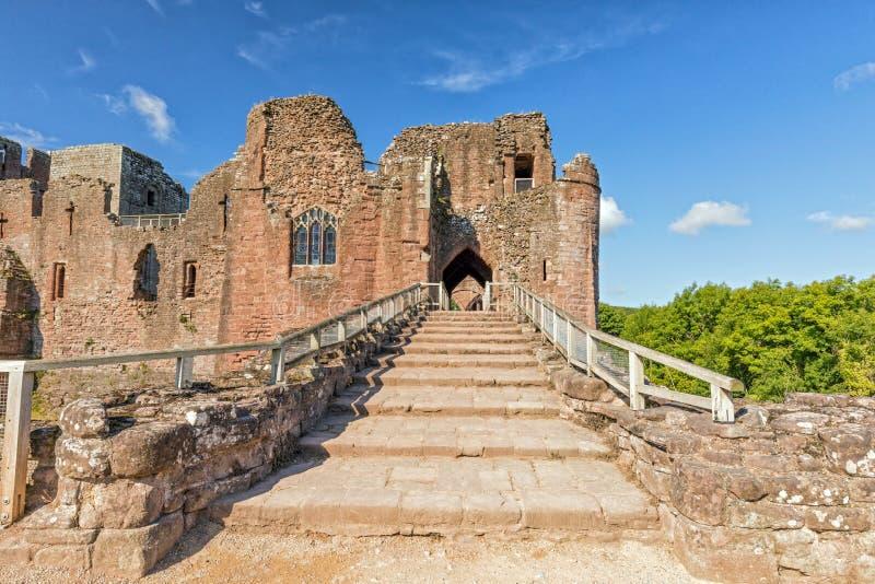 Porthuset, Goodrich slott, Herefordshire royaltyfria foton