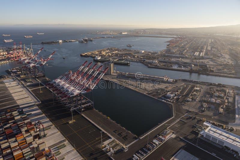 Porti di Los Angeles e di Long Beach fotografie stock
