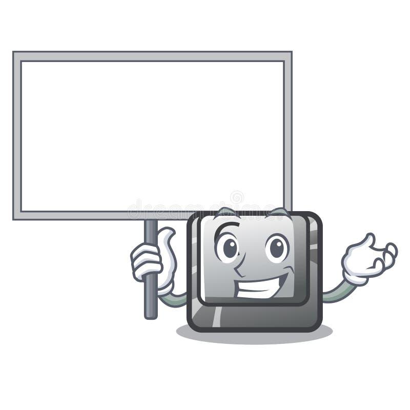 Porti il bottone C del bordo su un carattere della tastiera illustrazione vettoriale