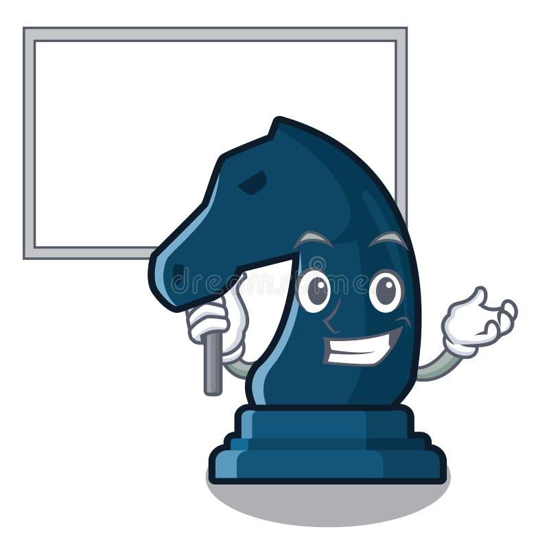Porti il cavaliere di scacchi del bordo nella forma della mascotte illustrazione vettoriale