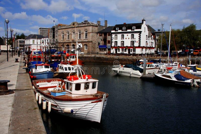 Porticciolo, barbacane, Plymouth, Regno Unito fotografie stock libere da diritti
