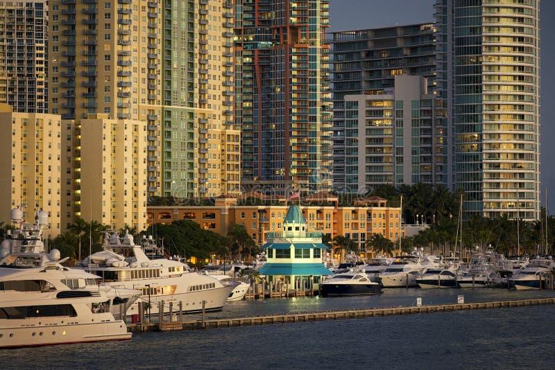 Porticciolo del Miami Beach immagini stock