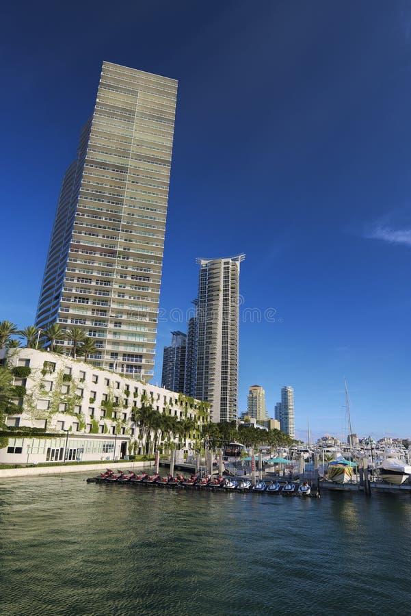 Porticciolo del Miami Beach fotografia stock