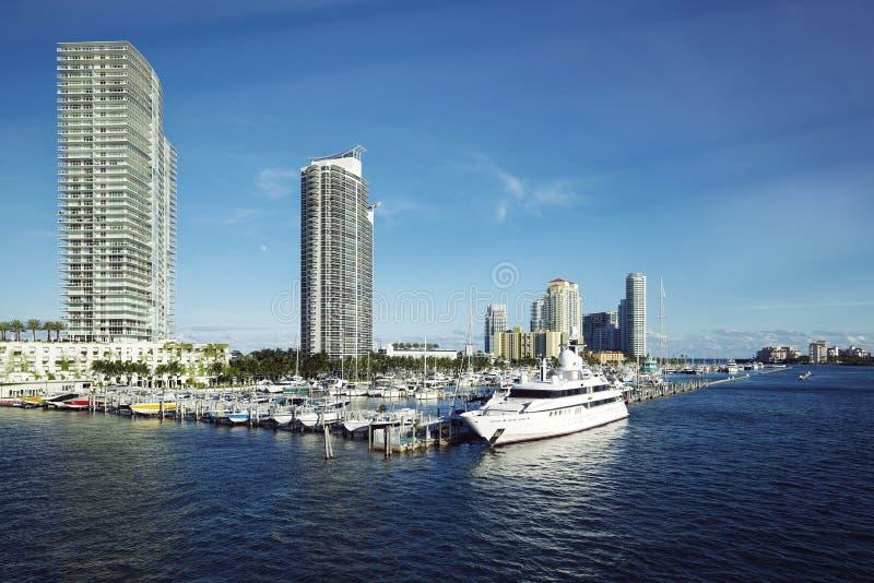 Porticciolo del Miami Beach immagini stock libere da diritti