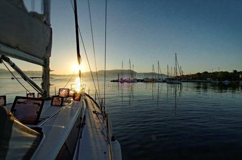 Porticciolo dell'yacht di Kastos fotografia stock