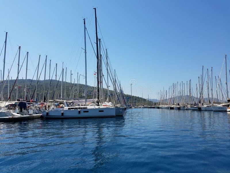 Porticciolo dell'yacht di Marmaris immagini stock libere da diritti