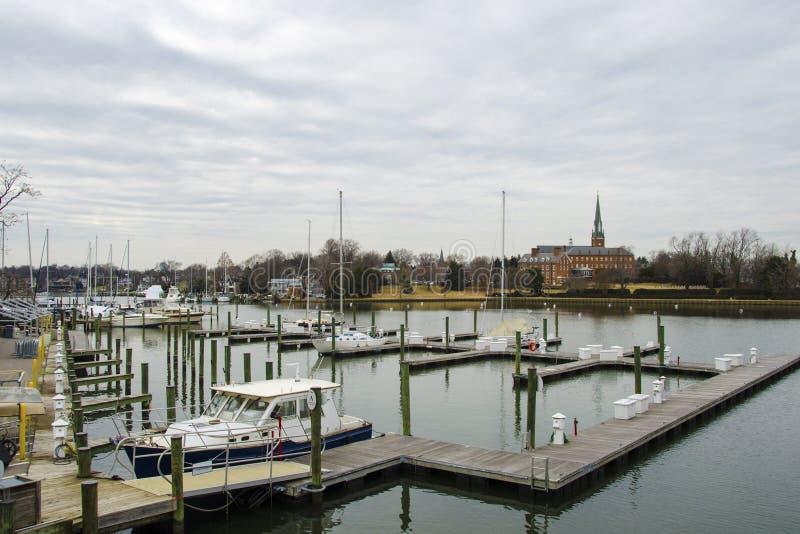 Porticciolo di Annapolis fotografie stock libere da diritti