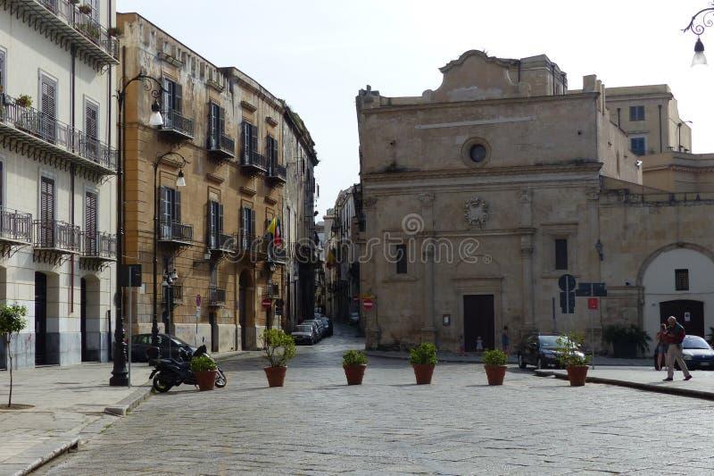 Porticciolo di della piazza a Palermo in Italia alla molla fotografia stock libera da diritti