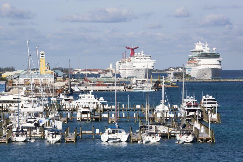 Porticciolo di Nassau fotografie stock libere da diritti