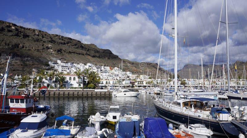 Porticciolo di navigazione da diporto, isola di Fuerteventura, Spagna fotografie stock