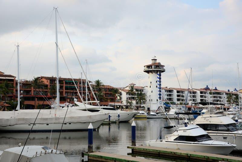 Porticciolo di Puerto Vallarta immagini stock