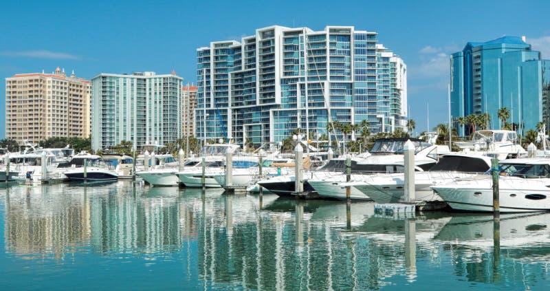 Porticciolo di Sarasota, Florida Bayfront fotografie stock