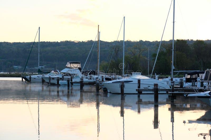 Porticciolo sul lago Cayuga immagine stock libera da diritti