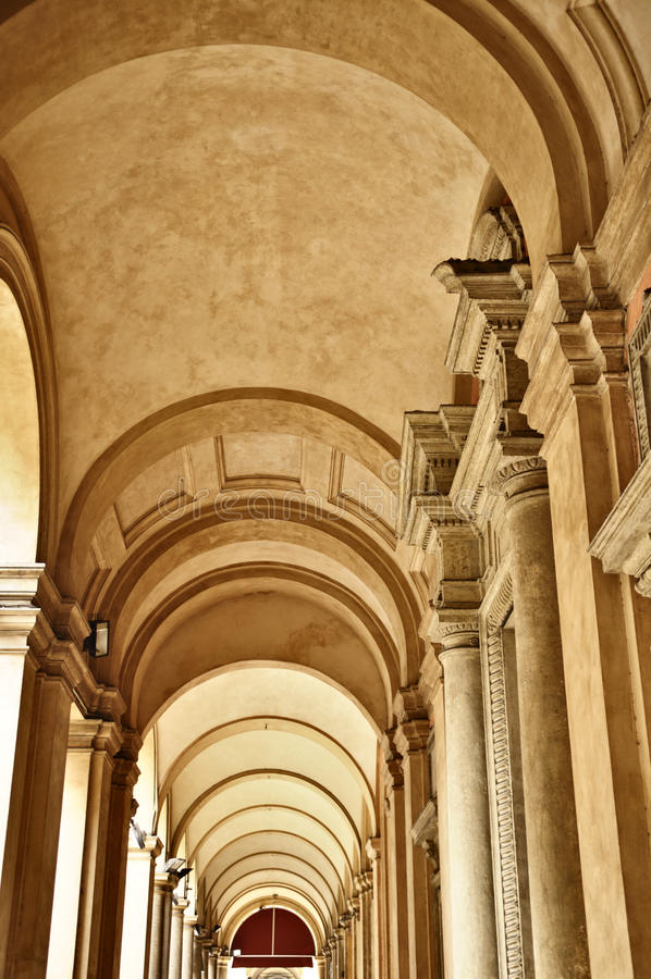 Download Portico, Bologna, Italy stock photo. Image of arch, covered - 16453402