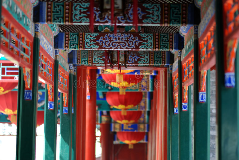 Portico cinese immagini stock
