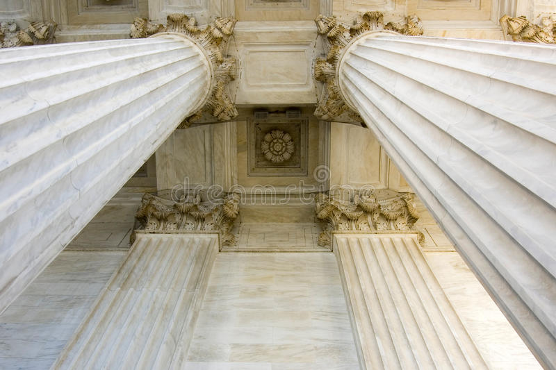 Portico and Columns detail royalty free stock photos