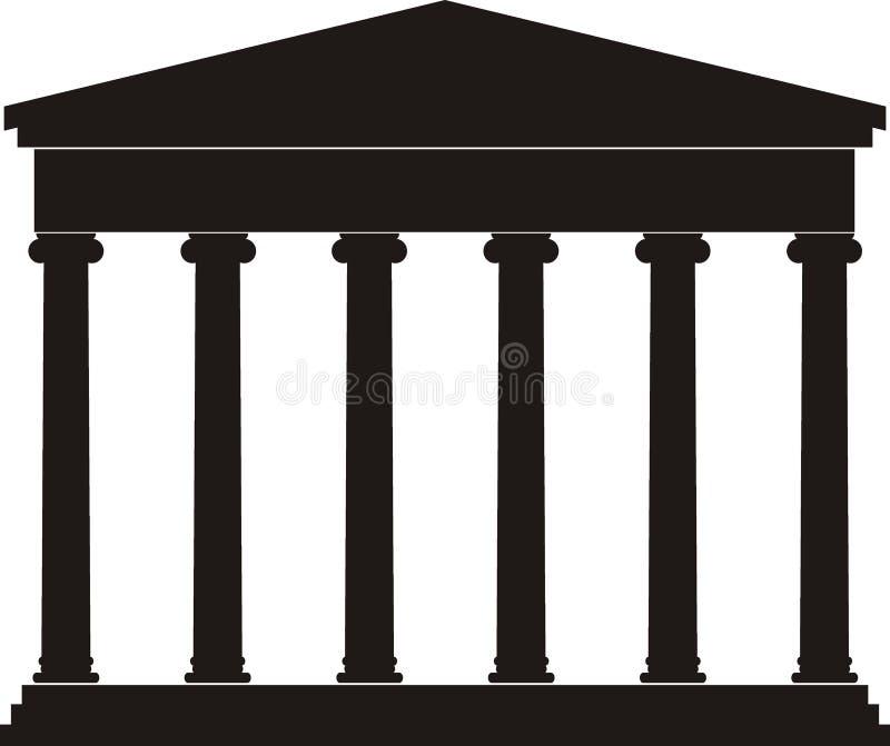 Portico (colunata), templo antigo ilustração do vetor