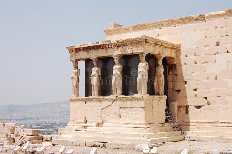 Portico dei Caryatids immagini stock