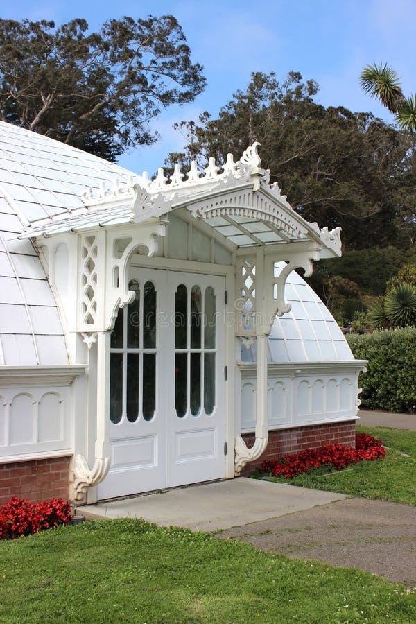 Portico dell'entrata laterale del conservatorio dei fiori, San Francisc fotografie stock libere da diritti