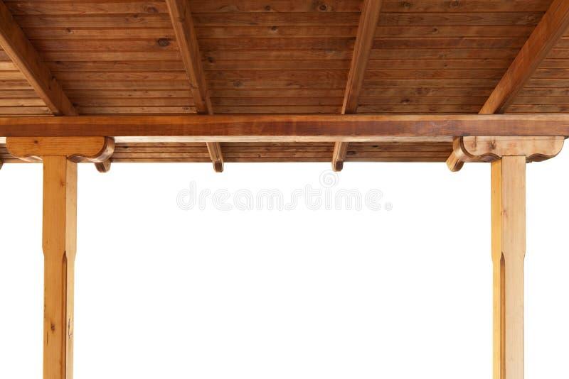 Portico di legno fotografia stock libera da diritti
