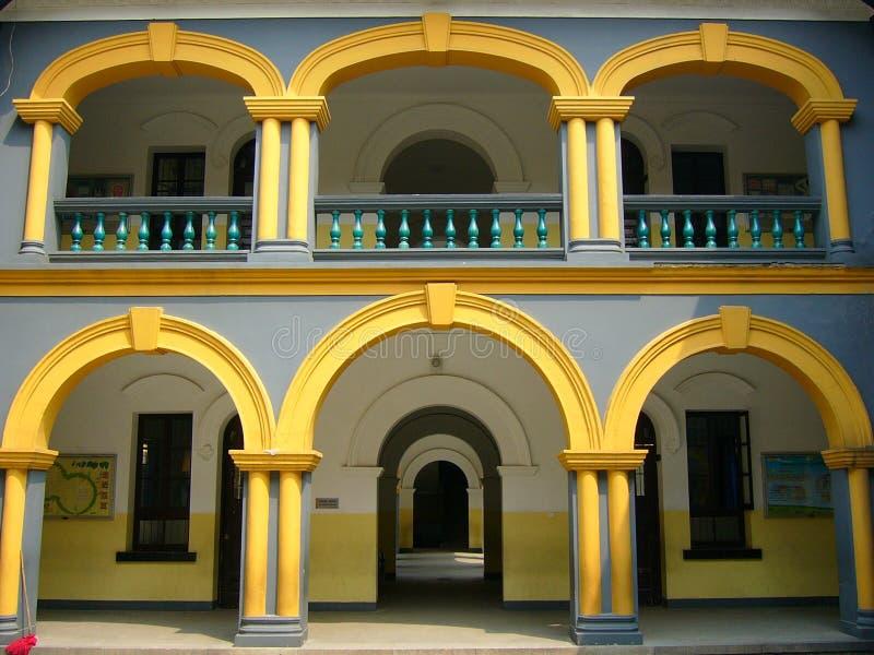 portico för dubbelt lager arkivbilder