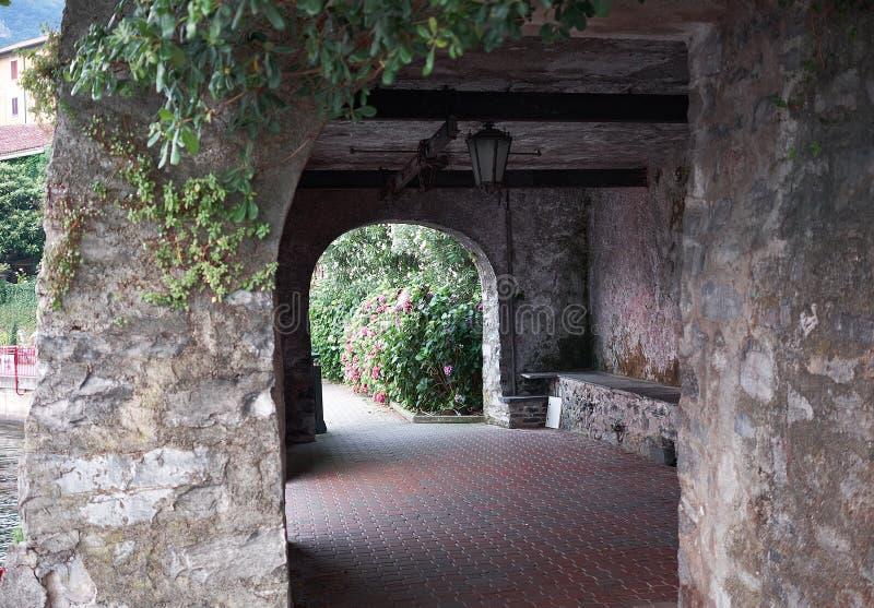 Portico a Varenna fotografie stock