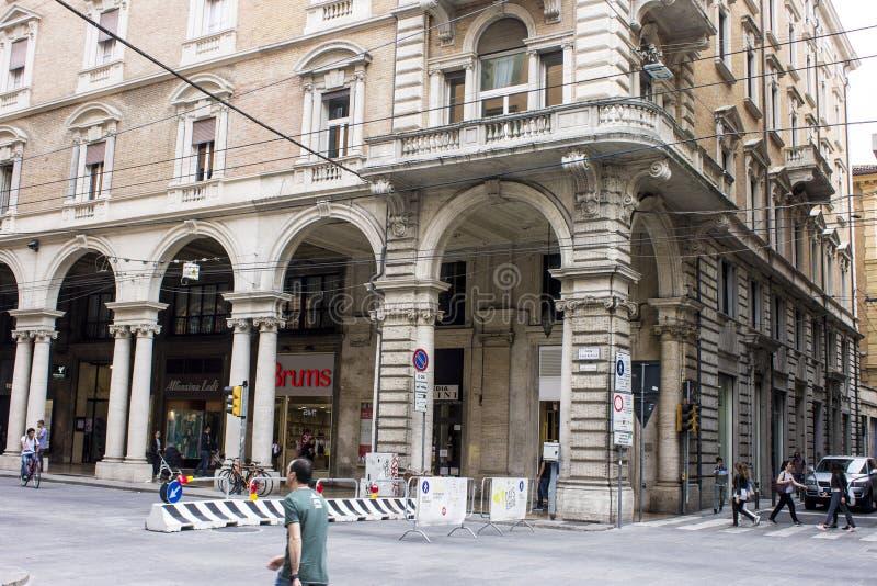 Porticoes de Bolonia, Italia imágenes de archivo libres de regalías
