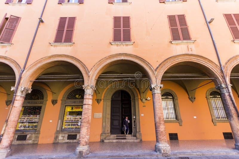 Porticoes de Bolonia, Italia fotos de archivo