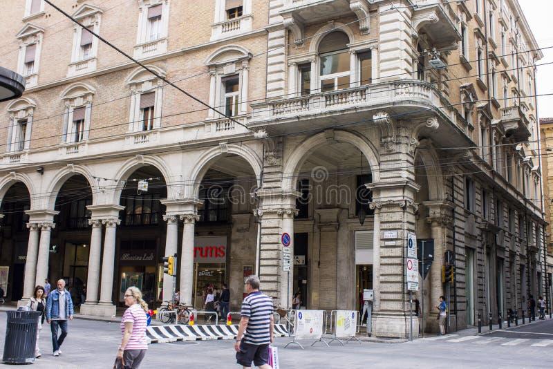 Porticoes de Bolonia, Italia fotos de archivo libres de regalías
