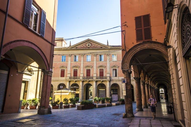 Porticoes de Bolonia, Italia fotografía de archivo